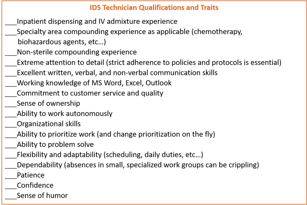 IDS Technician Traits